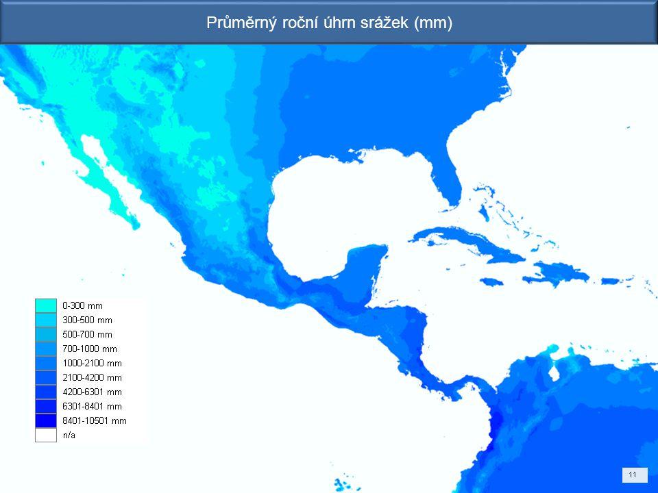 Průměrný roční úhrn srážek (mm)