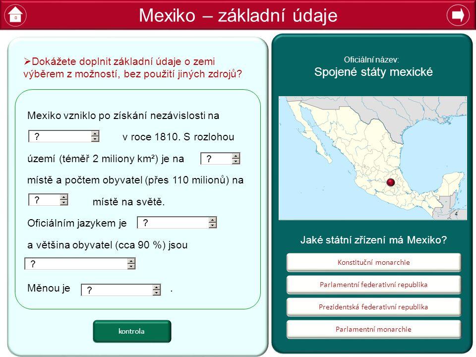 Mexiko – základní údaje