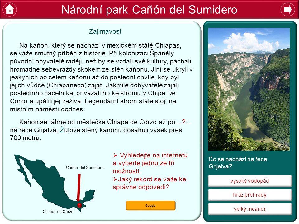Národní park Cañón del Sumidero