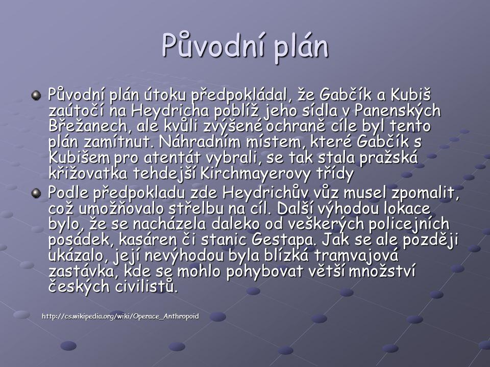 Původní plán