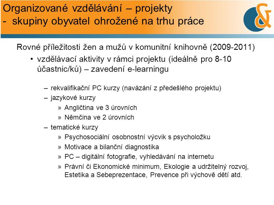 Organizované vzdělávání – projekty