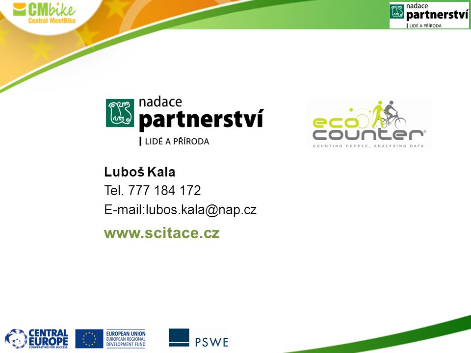 Luboš Kala Tel. 777 184 172 E-mail:lubos.kala@nap.cz www.scitace.cz