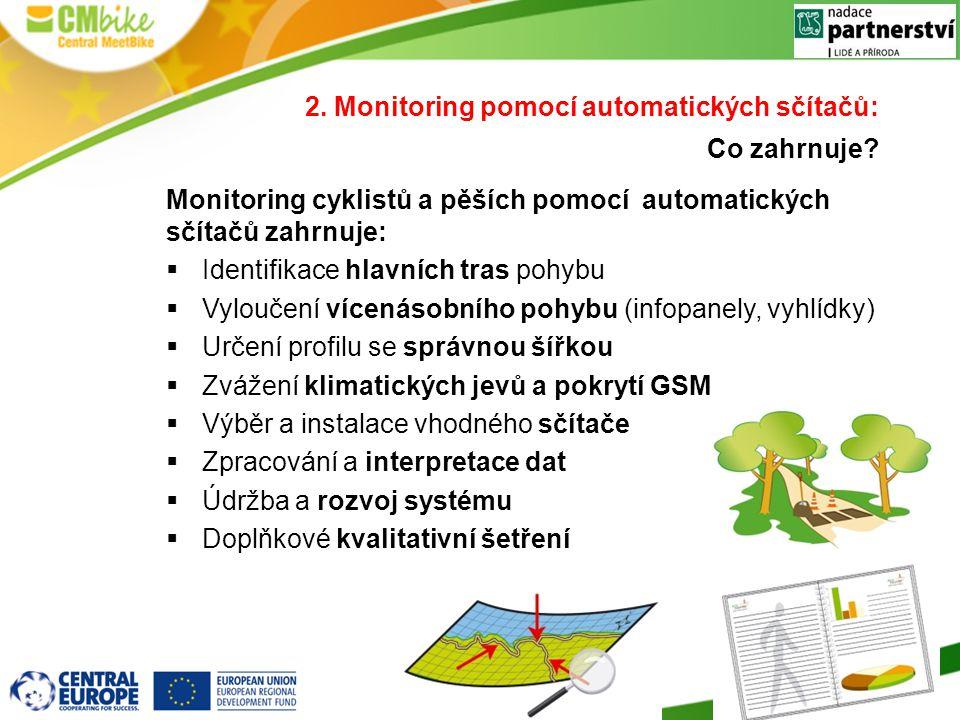 2. Monitoring pomocí automatických sčítačů: