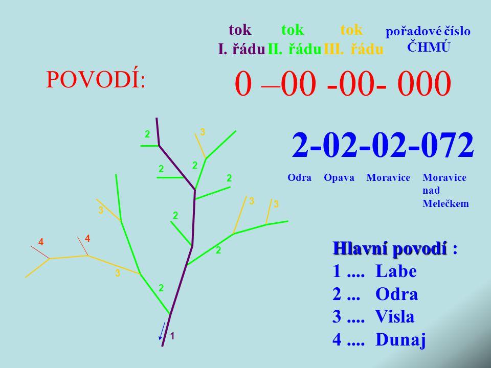 0 –00 -00- 000 2-02-02-072 POVODÍ: Hlavní povodí : 1 .... Labe