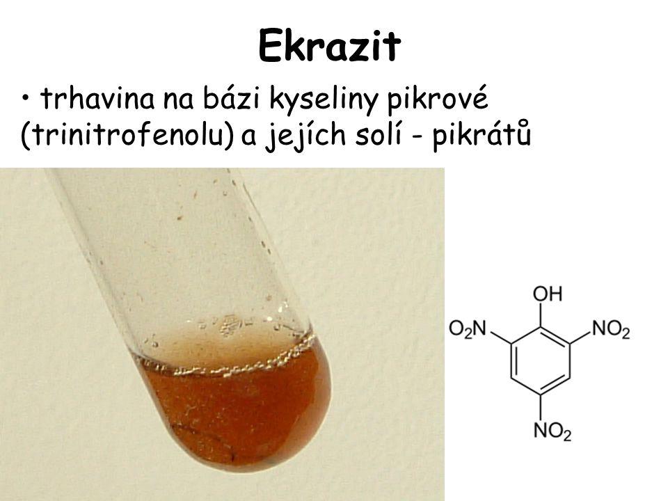 Ekrazit trhavina na bázi kyseliny pikrové (trinitrofenolu) a jejích solí - pikrátů