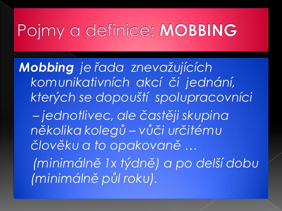 Pojmy a definice: MOBBING