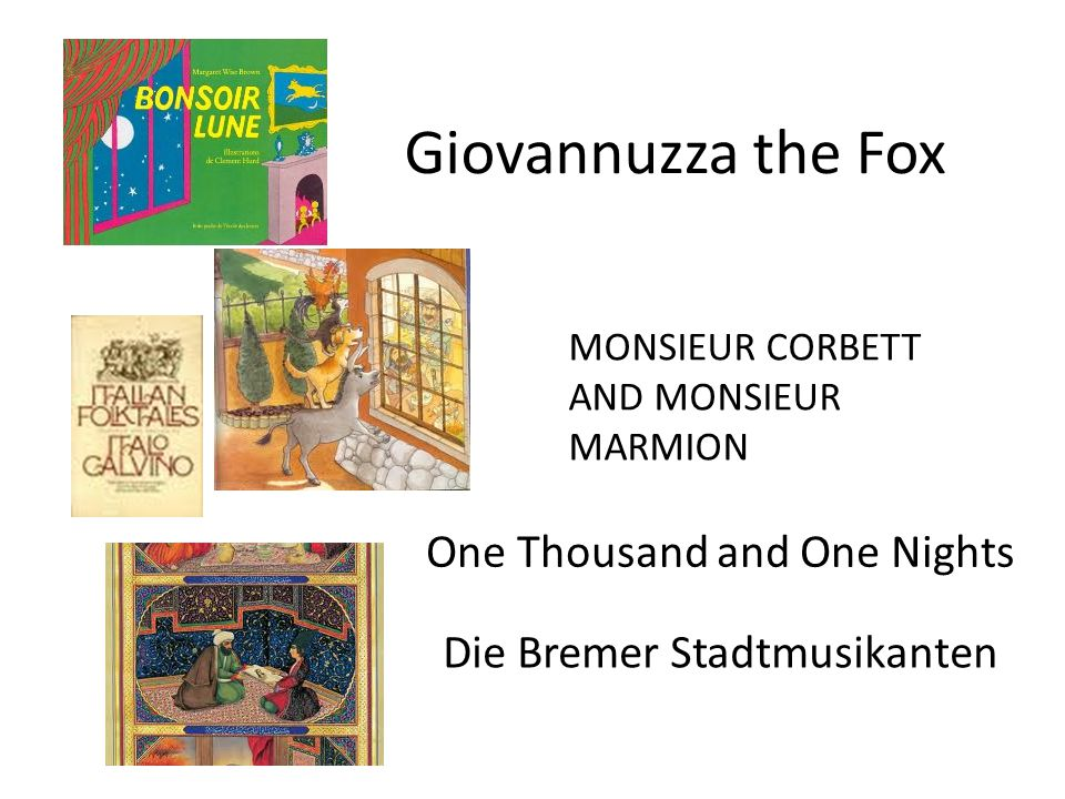 Giovannuzza the Fox One Thousand and One Nights