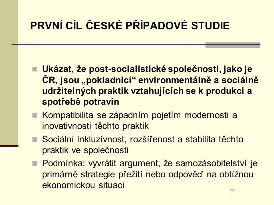 PRVNÍ CÍL ČESKÉ PŘÍPADOVÉ STUDIE