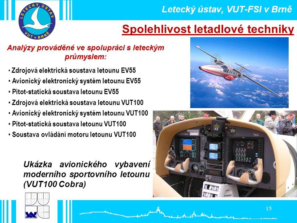 Analýzy prováděné ve spolupráci s leteckým
