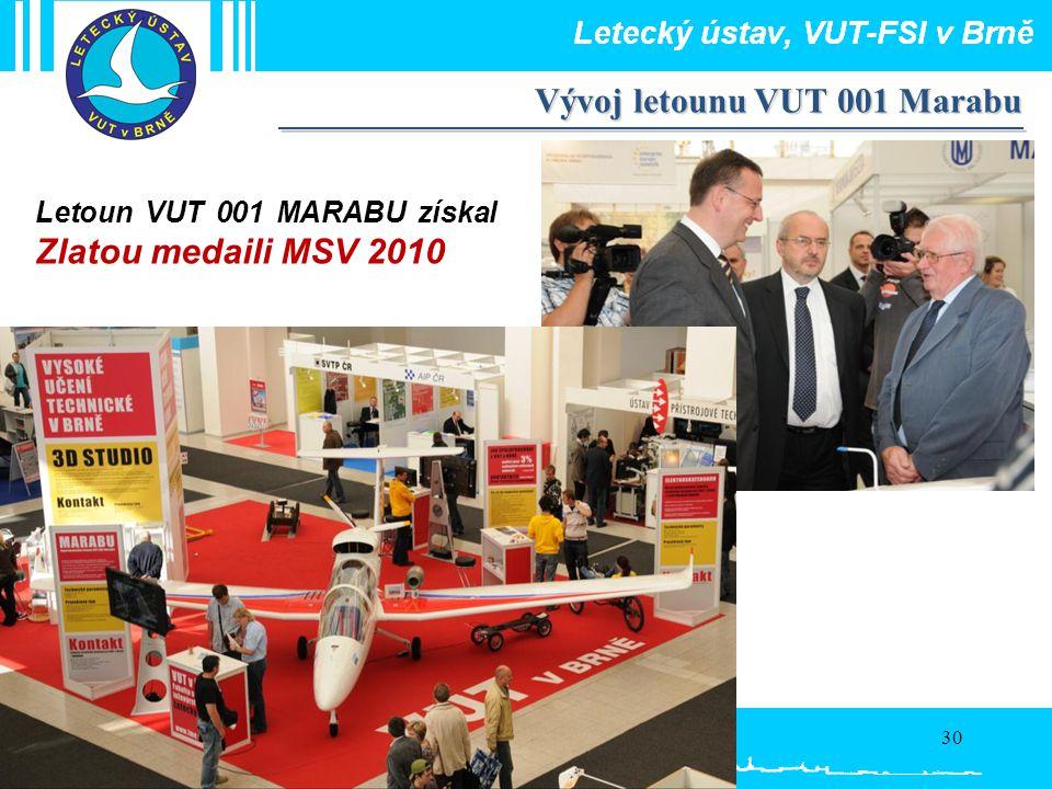 Vývoj letounu VUT 001 Marabu