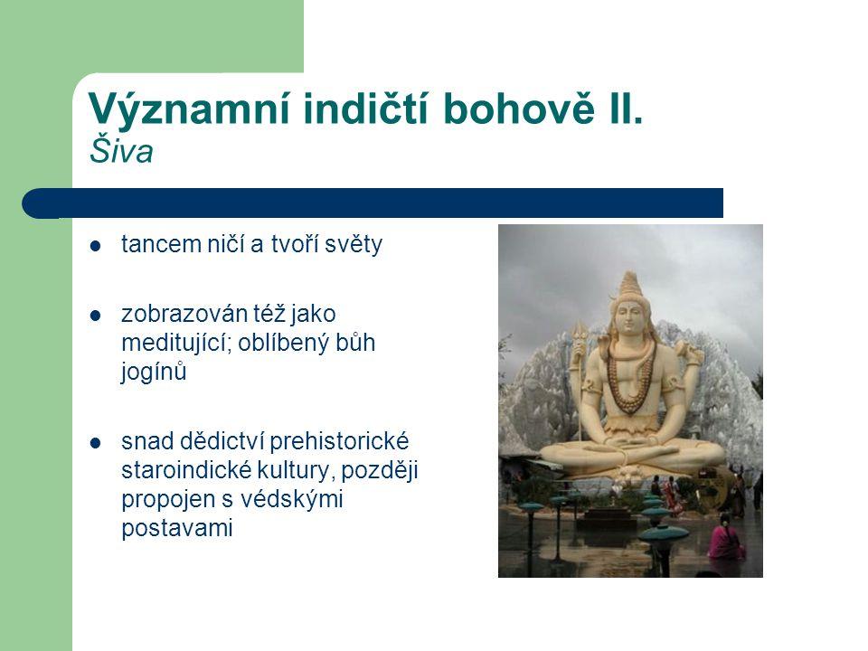 Významní indičtí bohově II. Šiva