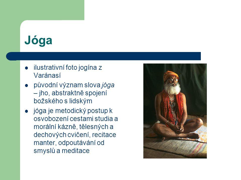 Jóga ilustrativní foto jogína z Varánasí
