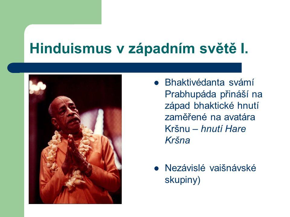 Hinduismus v západním světě I.