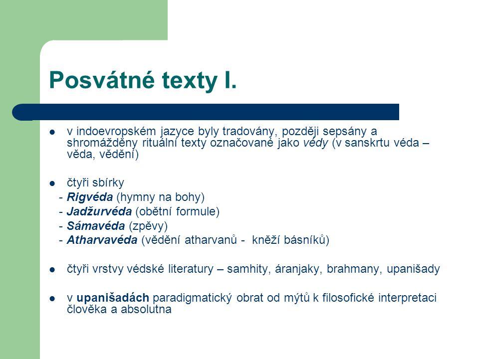 Posvátné texty I.