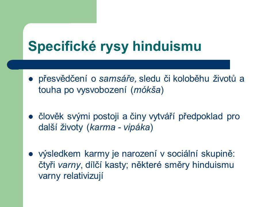 Specifické rysy hinduismu
