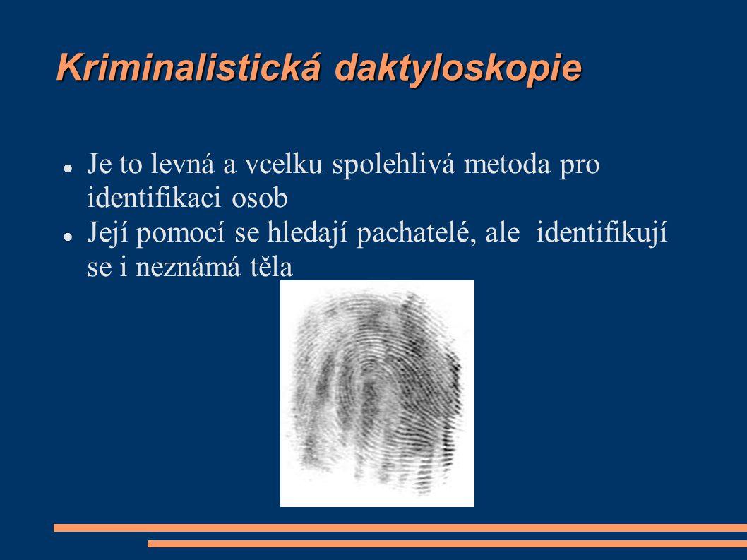 Kriminalistická daktyloskopie