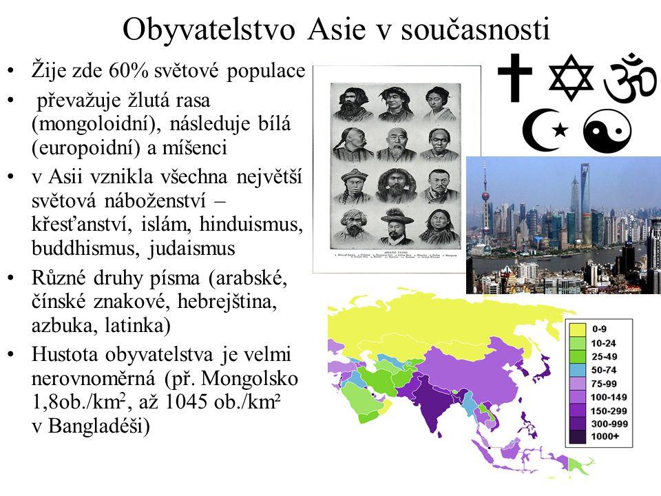 Obyvatelstvo Asie v současnosti