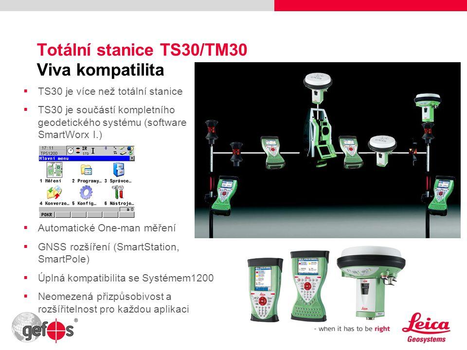 Totální stanice TS30/TM30 Viva kompatilita