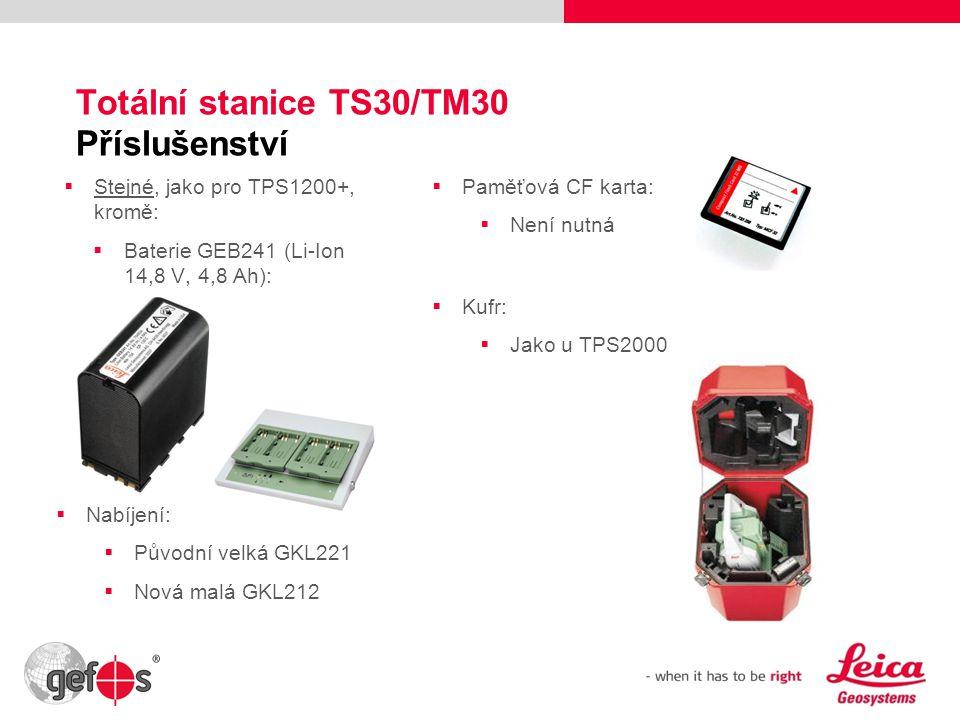 Totální stanice TS30/TM30 Příslušenství