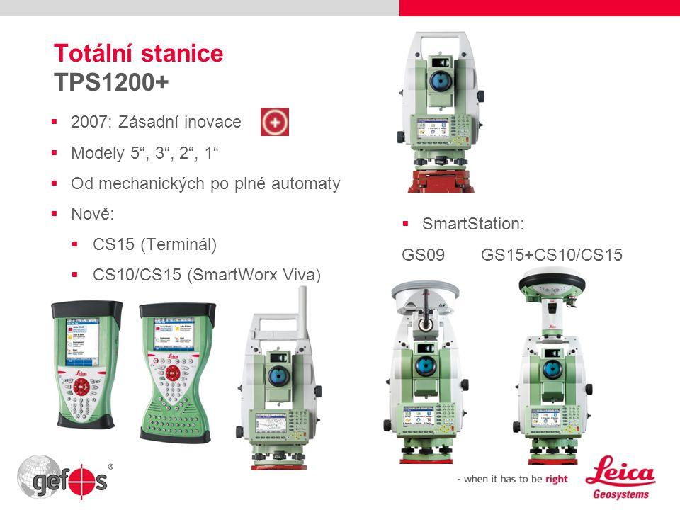 Totální stanice TPS1200+ 2007: Zásadní inovace Modely 5 , 3 , 2 , 1