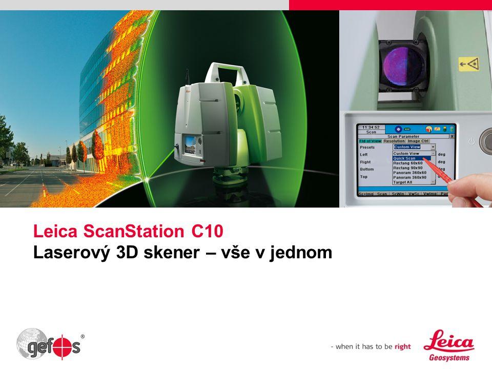 Leica ScanStation C10 Laserový 3D skener – vše v jednom