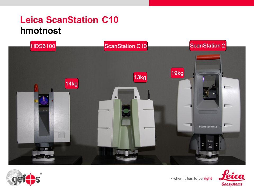 Leica ScanStation C10 hmotnost