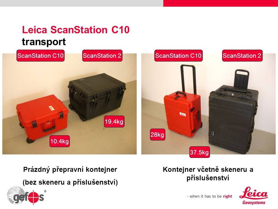 Leica ScanStation C10 transport