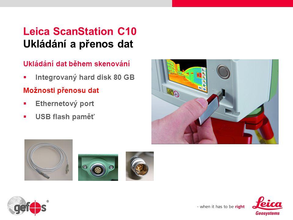 Leica ScanStation C10 Ukládání a přenos dat