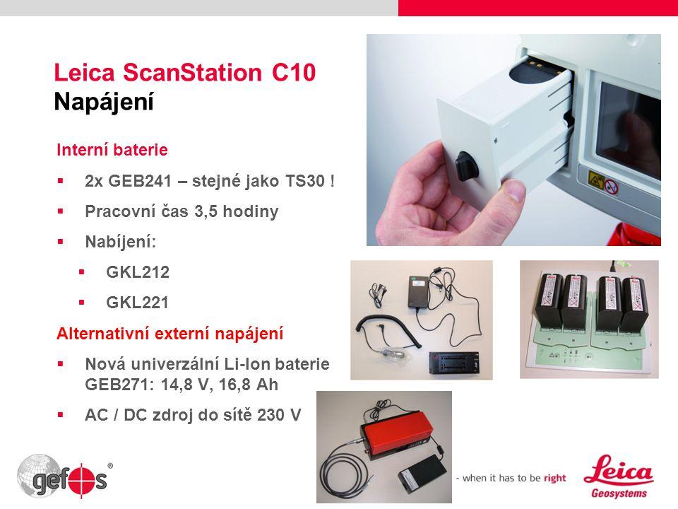 Leica ScanStation C10 Napájení