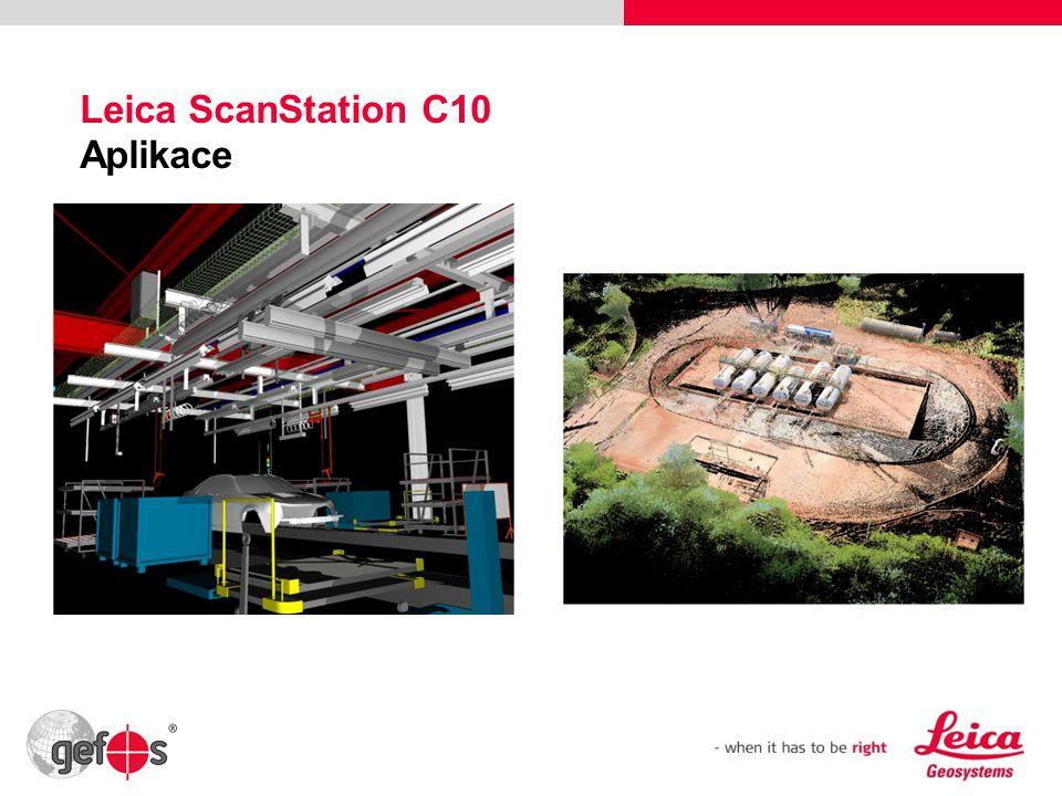Leica ScanStation C10 Aplikace