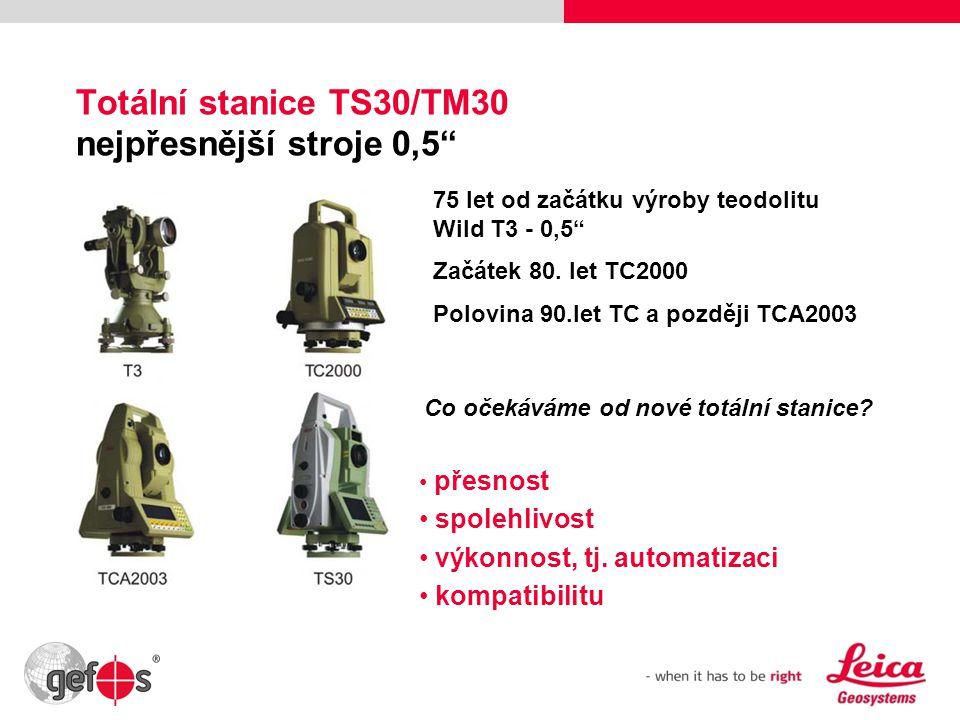 Totální stanice TS30/TM30 nejpřesnější stroje 0,5