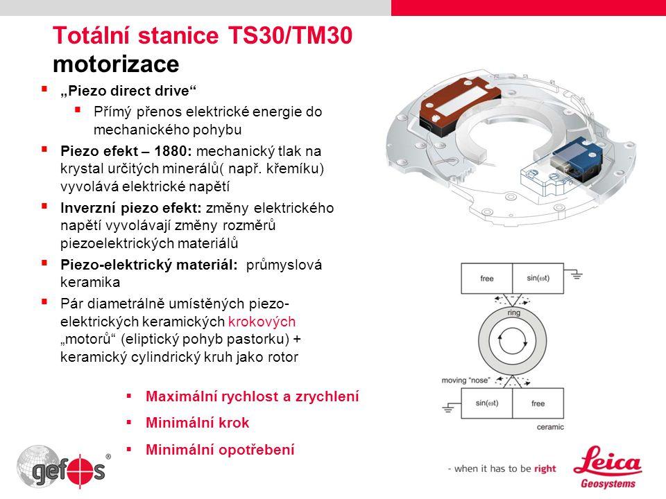 Totální stanice TS30/TM30 motorizace