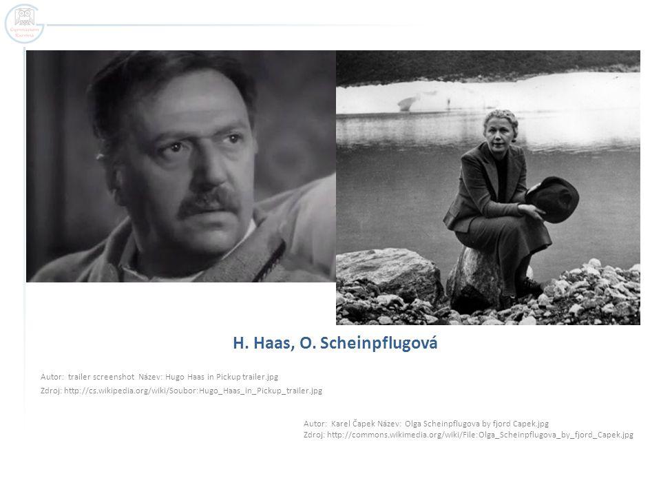 H. Haas, O. Scheinpflugová