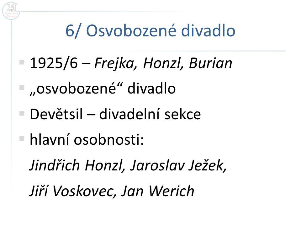 6/ Osvobozené divadlo 1925/6 – Frejka, Honzl, Burian