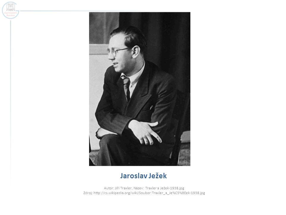 Jaroslav Ježek Autor: Jiří Traxler, Název: Traxler a Ježek-1938.jpg Zdroj: http://cs.wikipedia.org/wiki/Soubor:Traxler_a_Je%C5%BEek-1938.jpg.