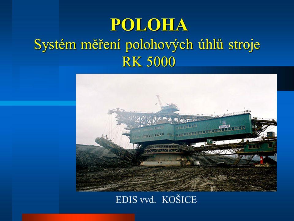 POLOHA Systém měření polohových úhlů stroje RK 5000