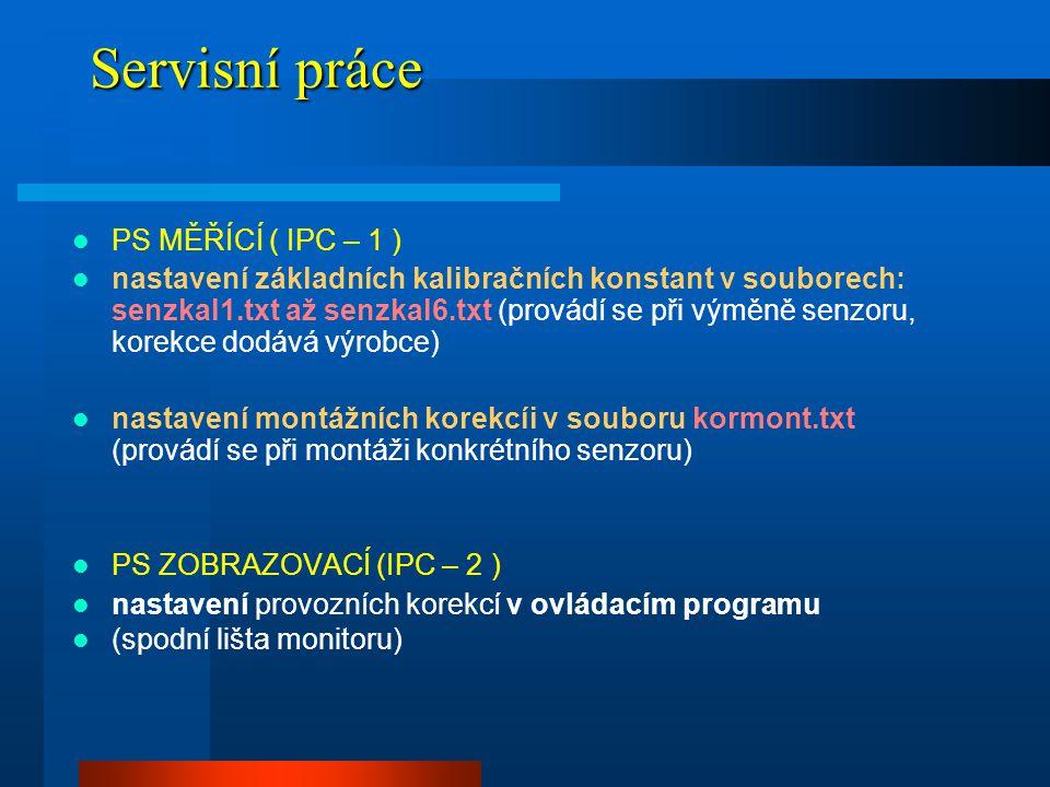 Servisní práce PS MĚŘÍCÍ ( IPC – 1 )