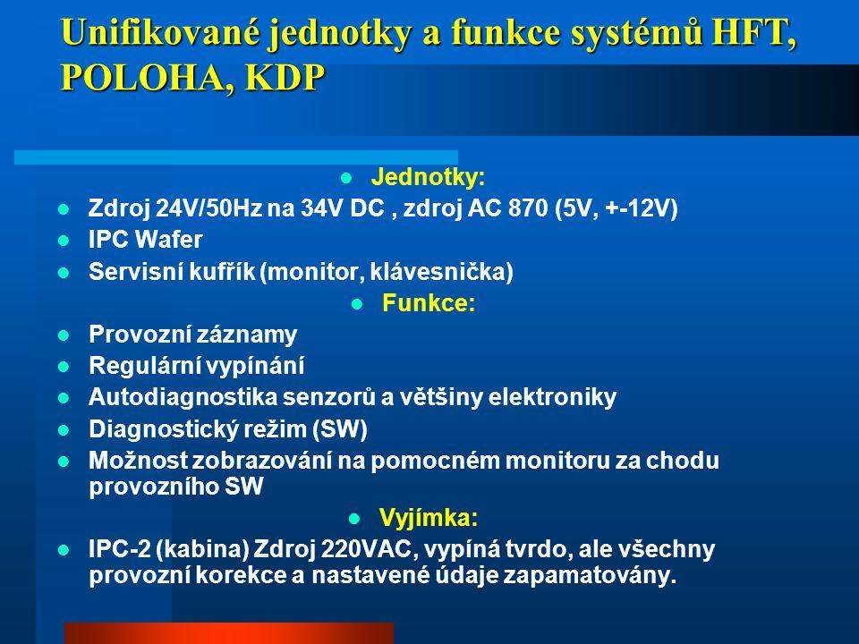 Unifikované jednotky a funkce systémů HFT, POLOHA, KDP