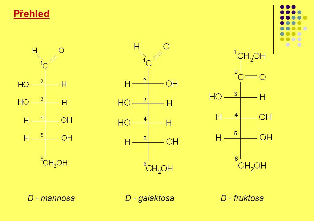 Přehled D - mannosa D - galaktosa D - fruktosa