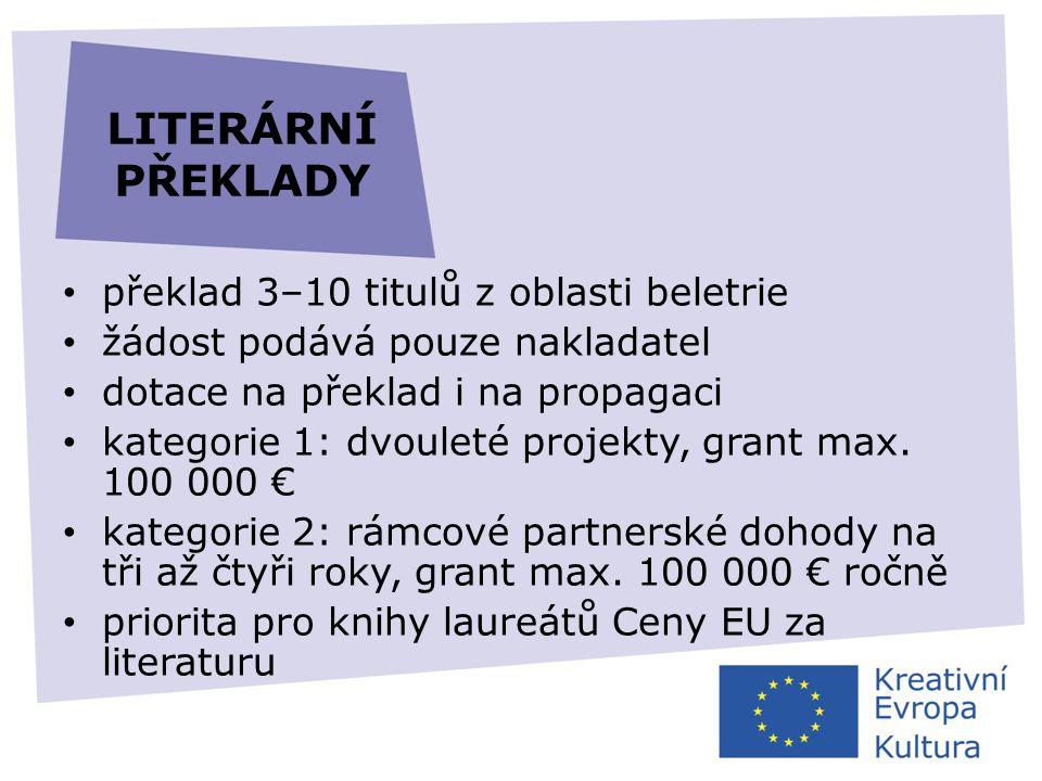 LITERÁRNÍ PŘEKLADY překlad 3–10 titulů z oblasti beletrie