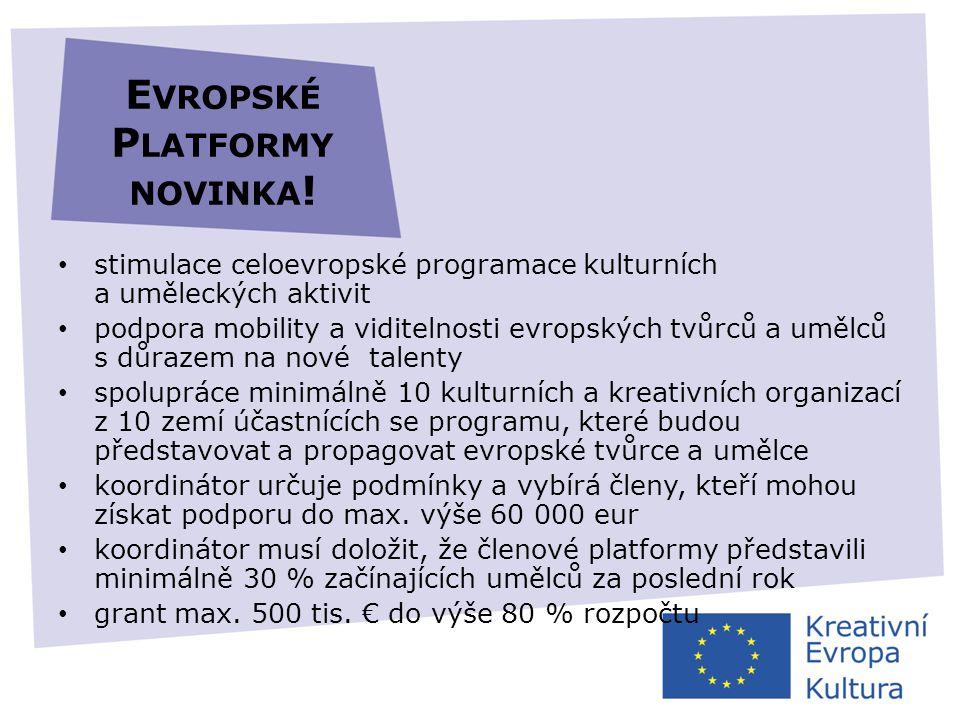 Evropské Platformy novinka!