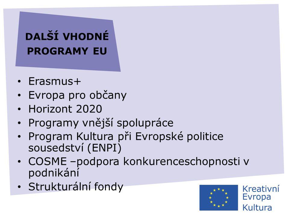 další vhodné programy eu