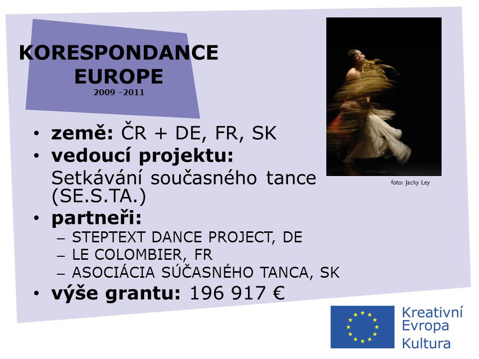 KORESPONDANCE EUROPE 2009 -2011
