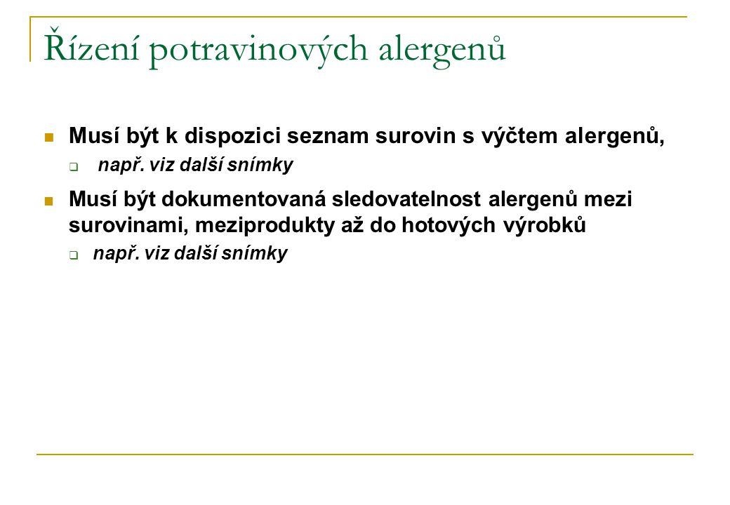 Řízení potravinových alergenů