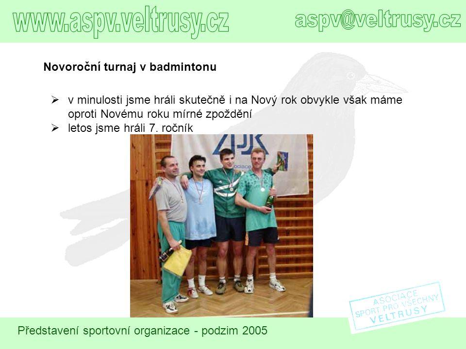 www.aspv.veltrusy.cz aspv@veltrusy.cz Novoroční turnaj v badmintonu