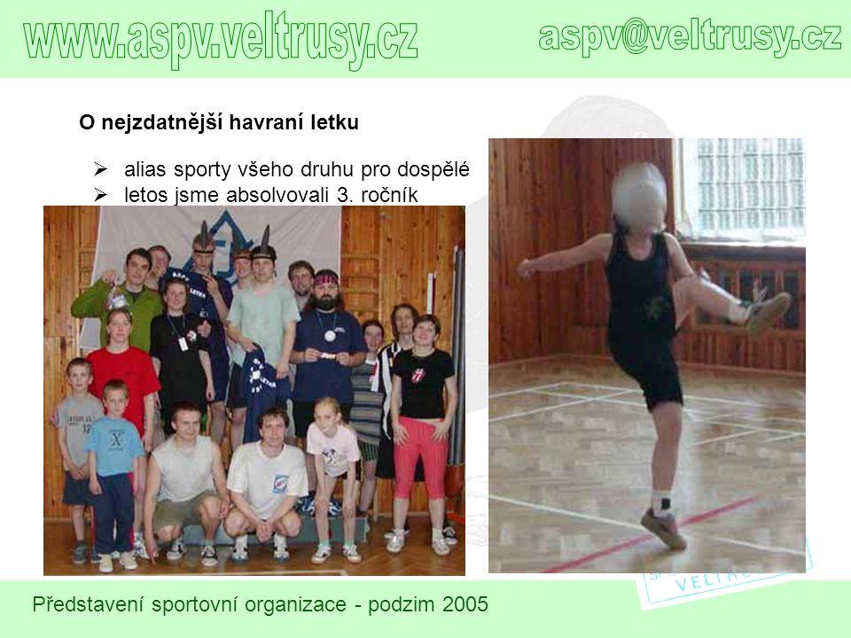www.aspv.veltrusy.cz aspv@veltrusy.cz O nejzdatnější havraní letku