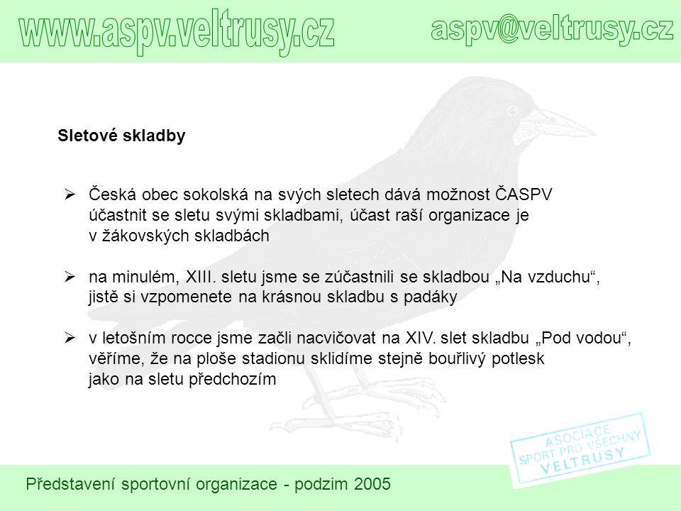 www.aspv.veltrusy.cz aspv@veltrusy.cz Sletové skladby