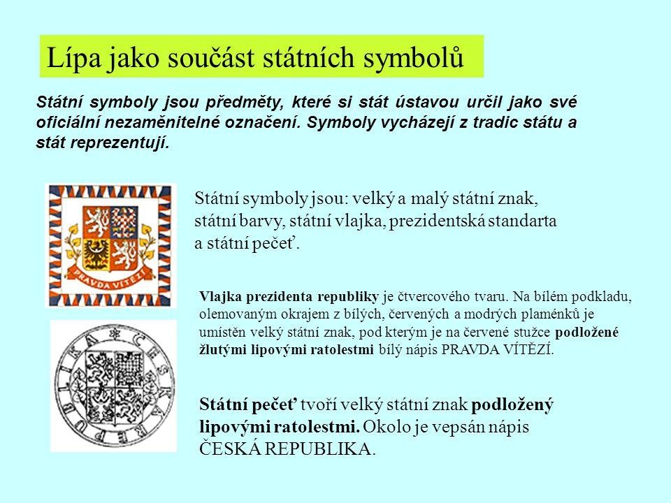 Lípa jako součást státních symbolů