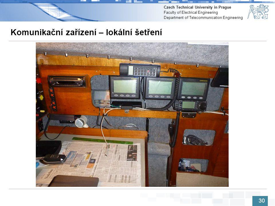 Komunikační zařízení – lokální šetření
