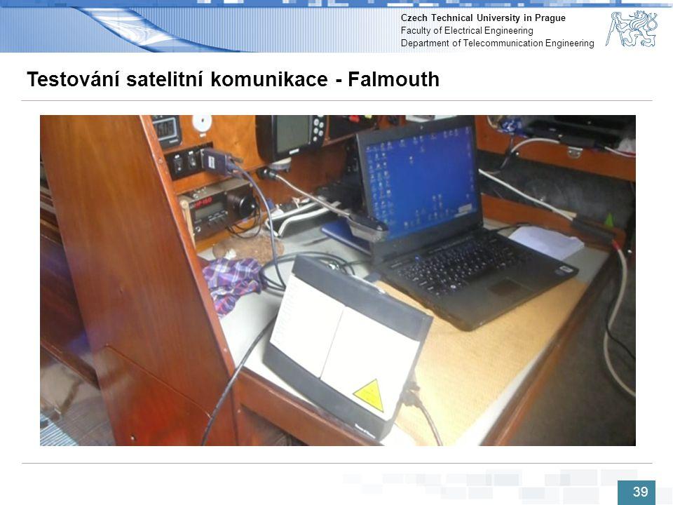 Testování satelitní komunikace - Falmouth